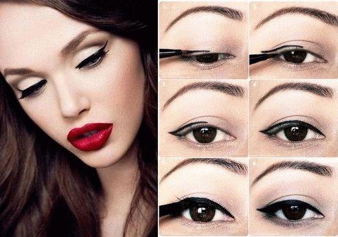 Стильный макияж со стрелками
